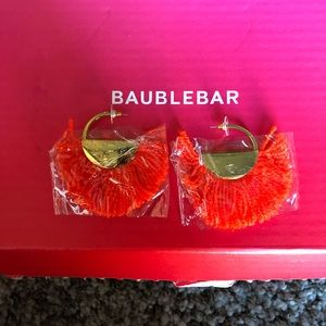 Baublebar Bonita Hoop Earrings - Orange